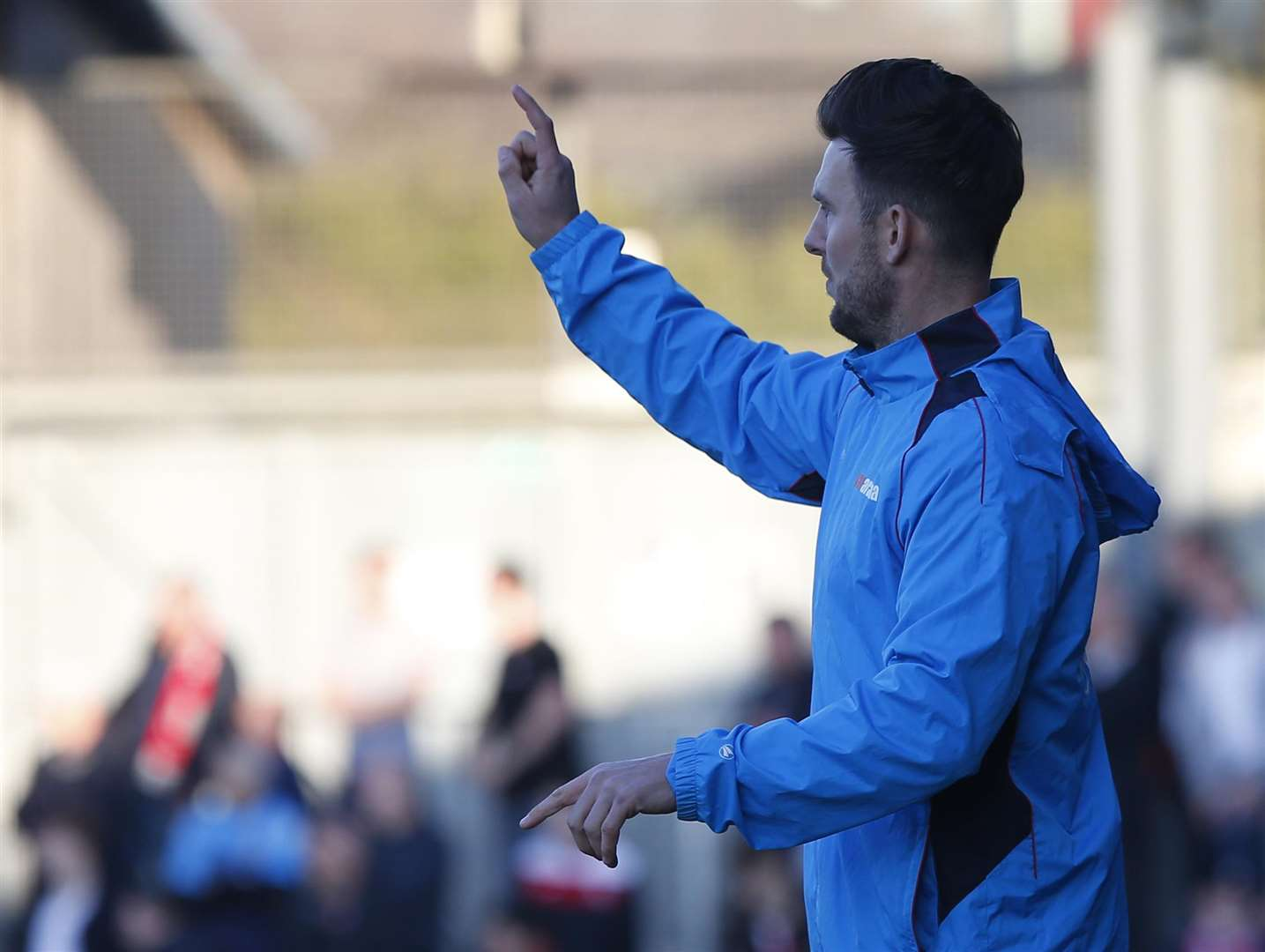 Dartford joint-manager Jamie Coyle Picture: Andy Jones