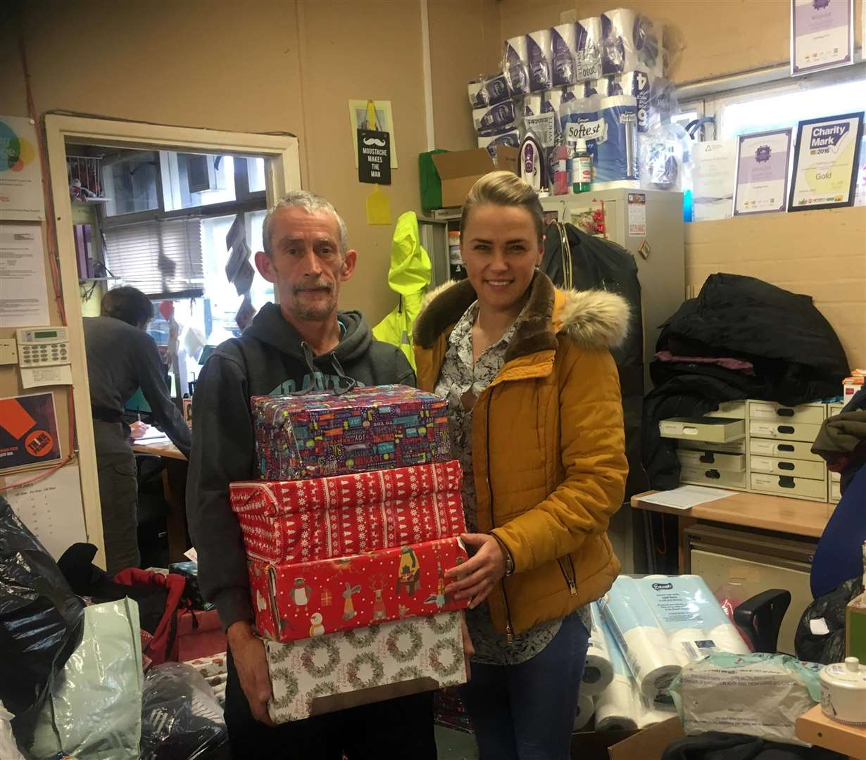 Salvation Army Gifts For Christmas: Salvation Army Donates Appeal Gifts To Jaymie Dunster's