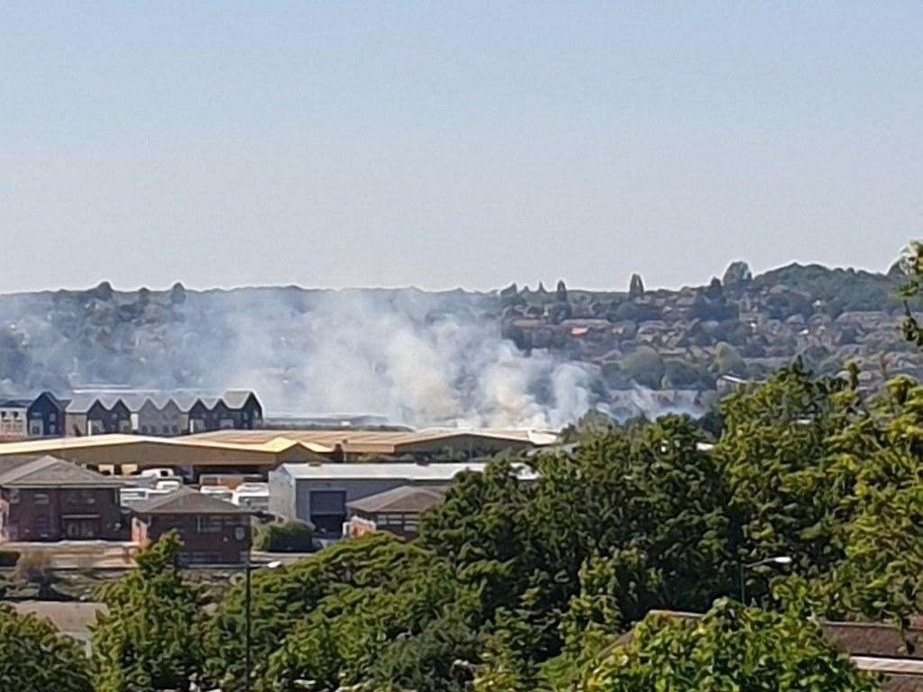 There is a fire on the Medway City Estate in Strood