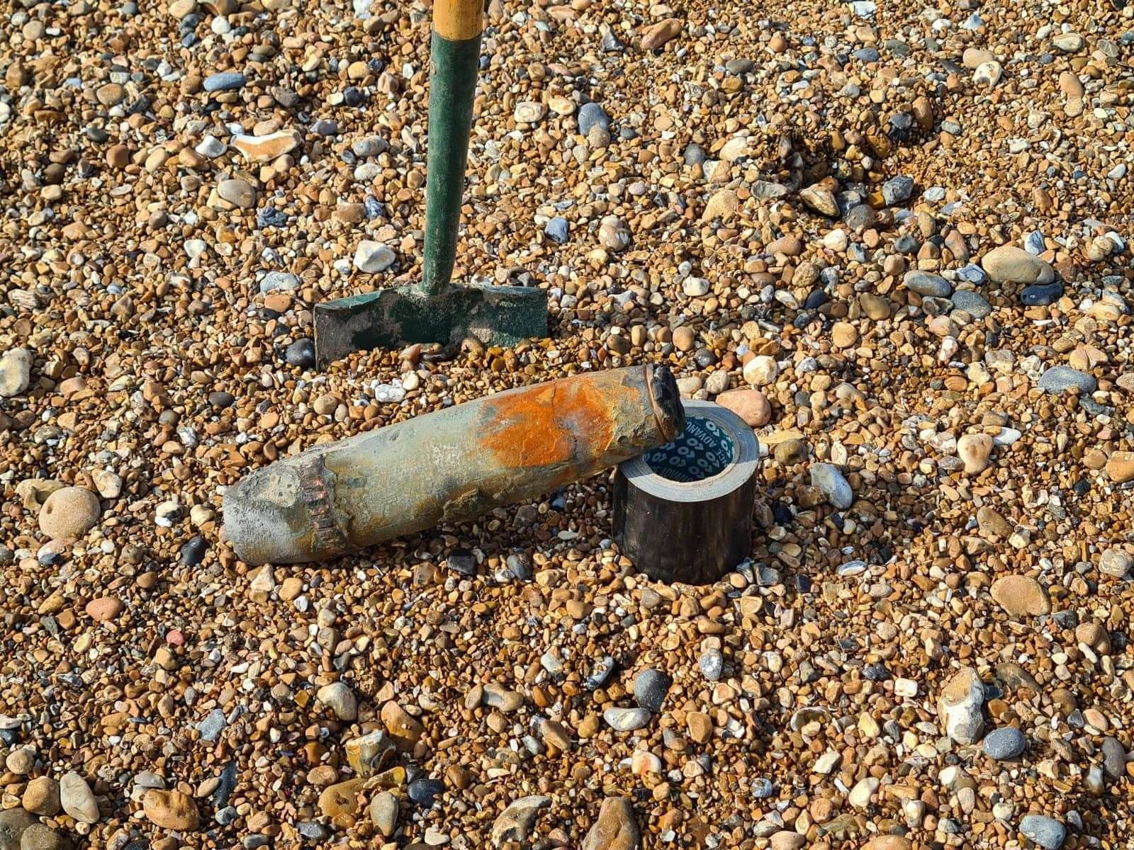 The discovery required specialist bomb disposal teams to attend the beach Picture: HM Coastguard Margate