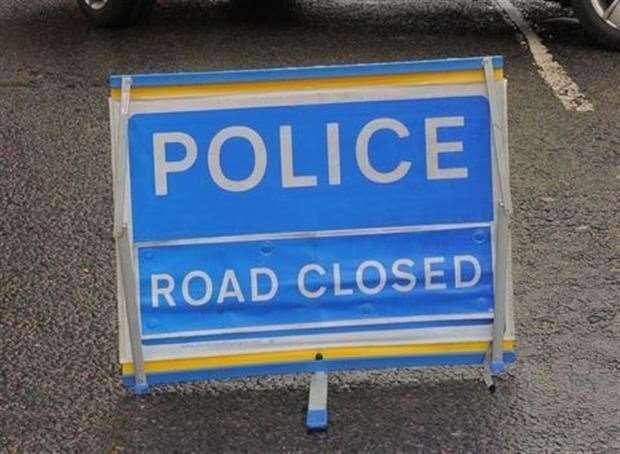 Watling Street, Strood, was temporarily closed. Stock image
