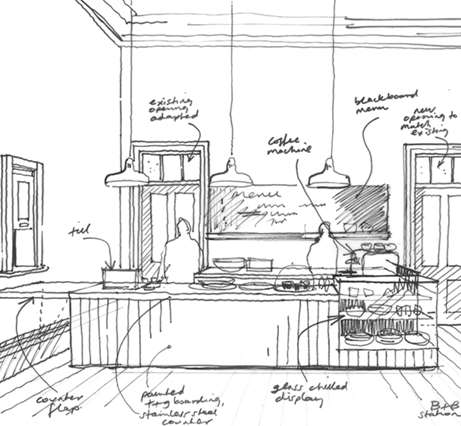 A sketch of how the interior might look