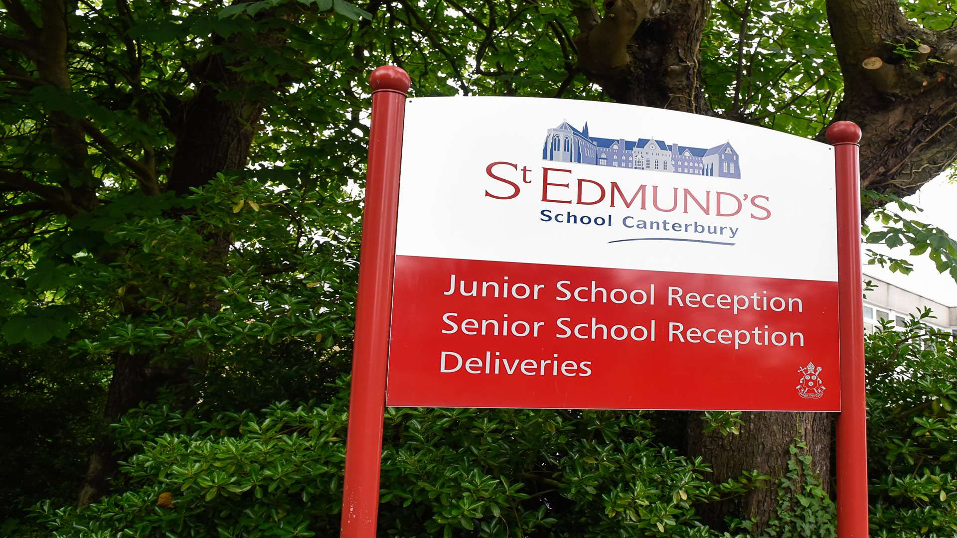 The sign outside St Edmund's School