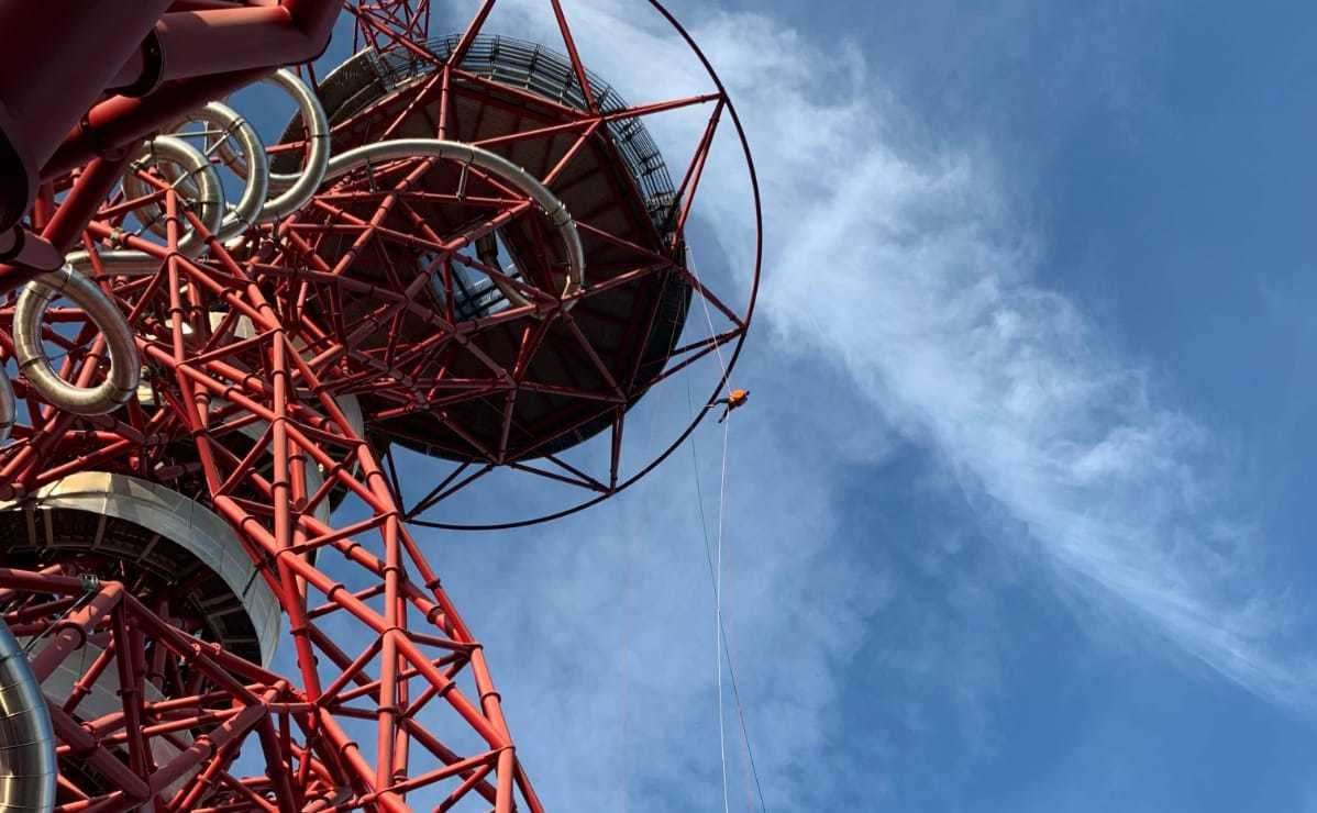 Neil at the top of the ArcelorMittal Orbit