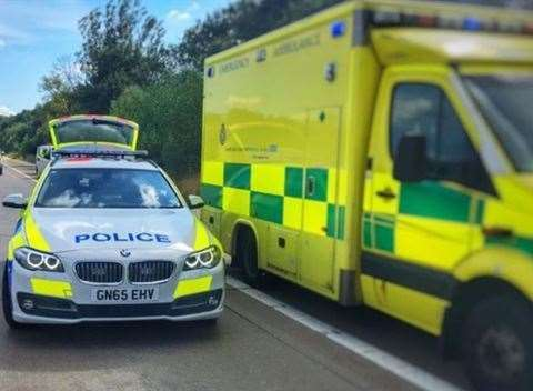 Police car and ambulance. Stock picture (26736884)