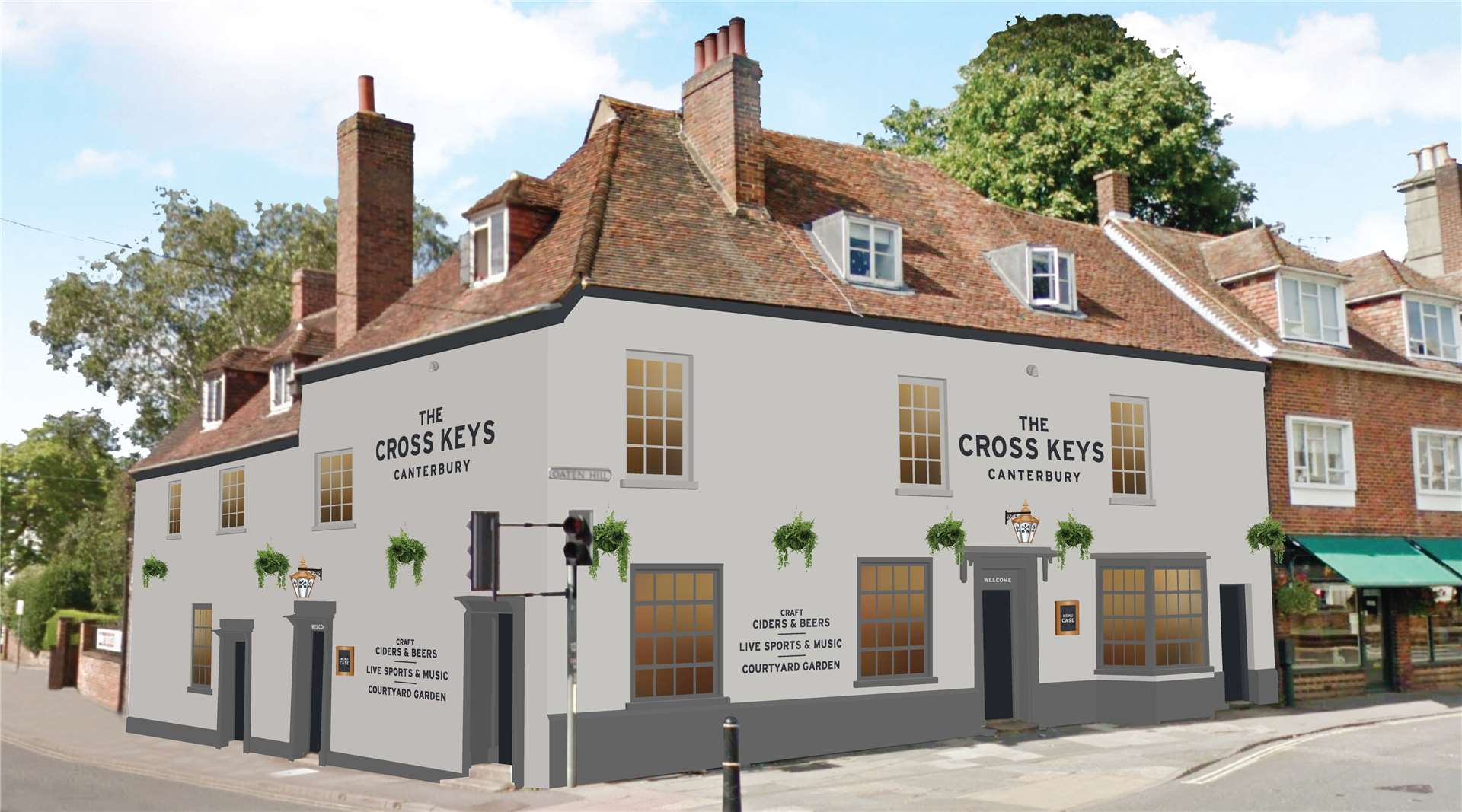 A CGI of the proposed Cross Keys makeover