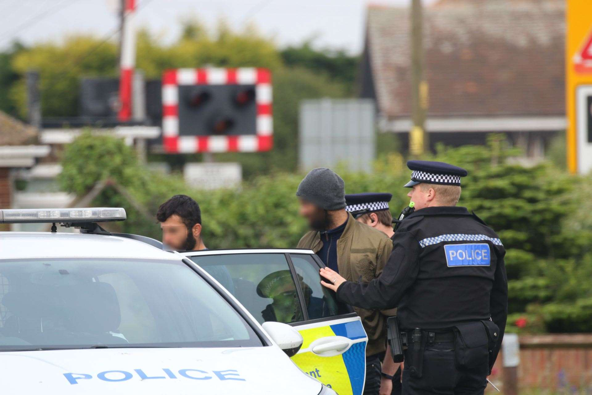 The suspected migrants were met by officers from Kent Police. Picture: Susan Pilcher