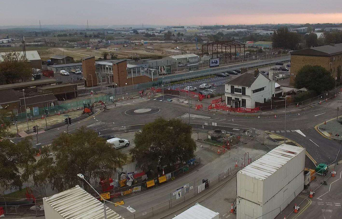 An aerial shot taken of the newly-realigned St Michael's Road a few weeks ago. Picture: Submitted