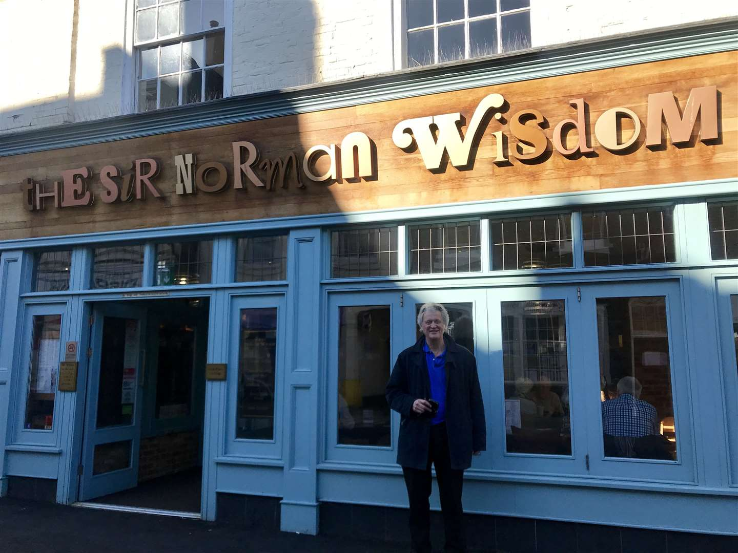 JD Wetherspoon founder Tim Martin outside the Sir Norman Wisdom in Deal