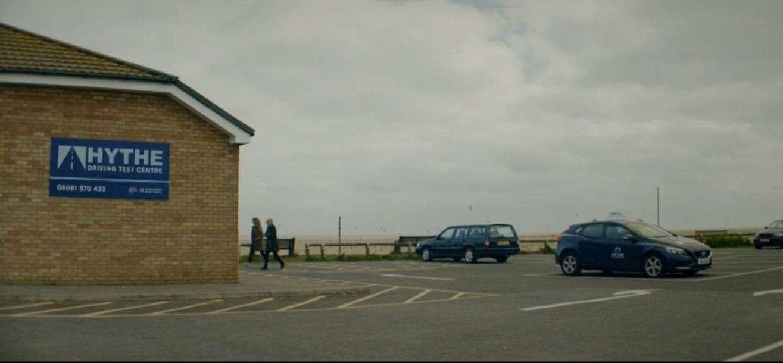 The compound driving test center.  Photo: BBC iPlayer