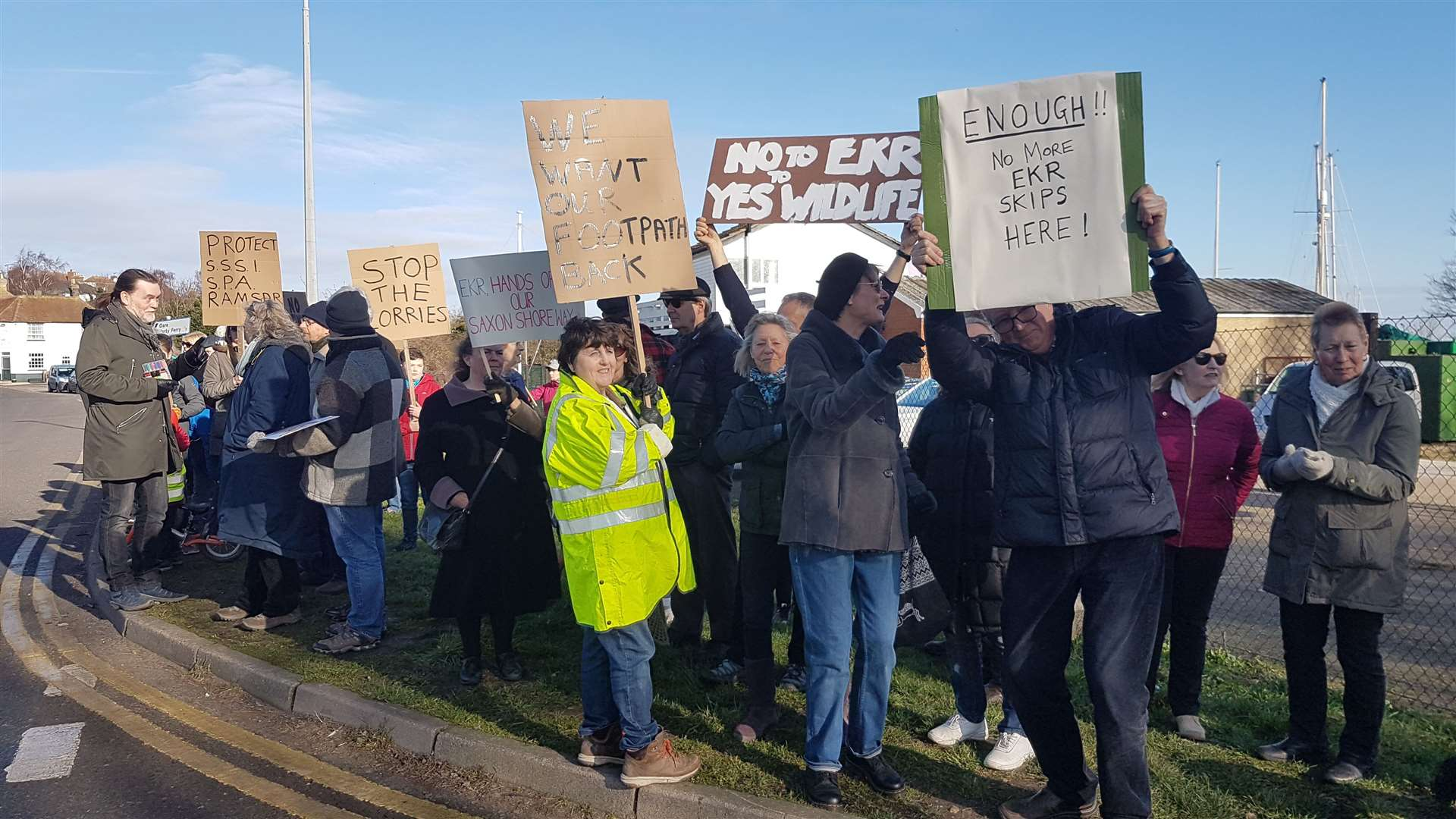 Dozens gathered to protest the planning application in February (7308393)