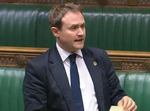 MP Tom Tugendhat speaking during the debate. Picture: Parliament TV