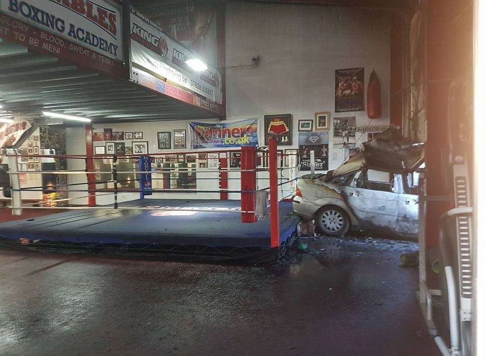 The fire damage at Rumbles Boxing Academy