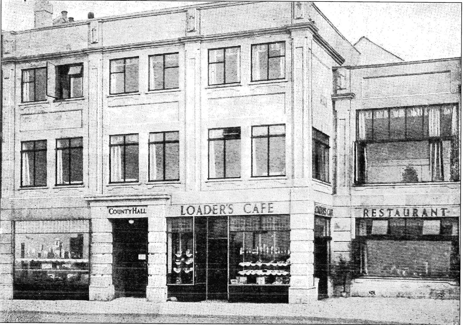 The building was previously home to Loader's Cafe and Restaurant, built in 1933 (Picture: Herne Bay Historical Records Society / John Fishpool)