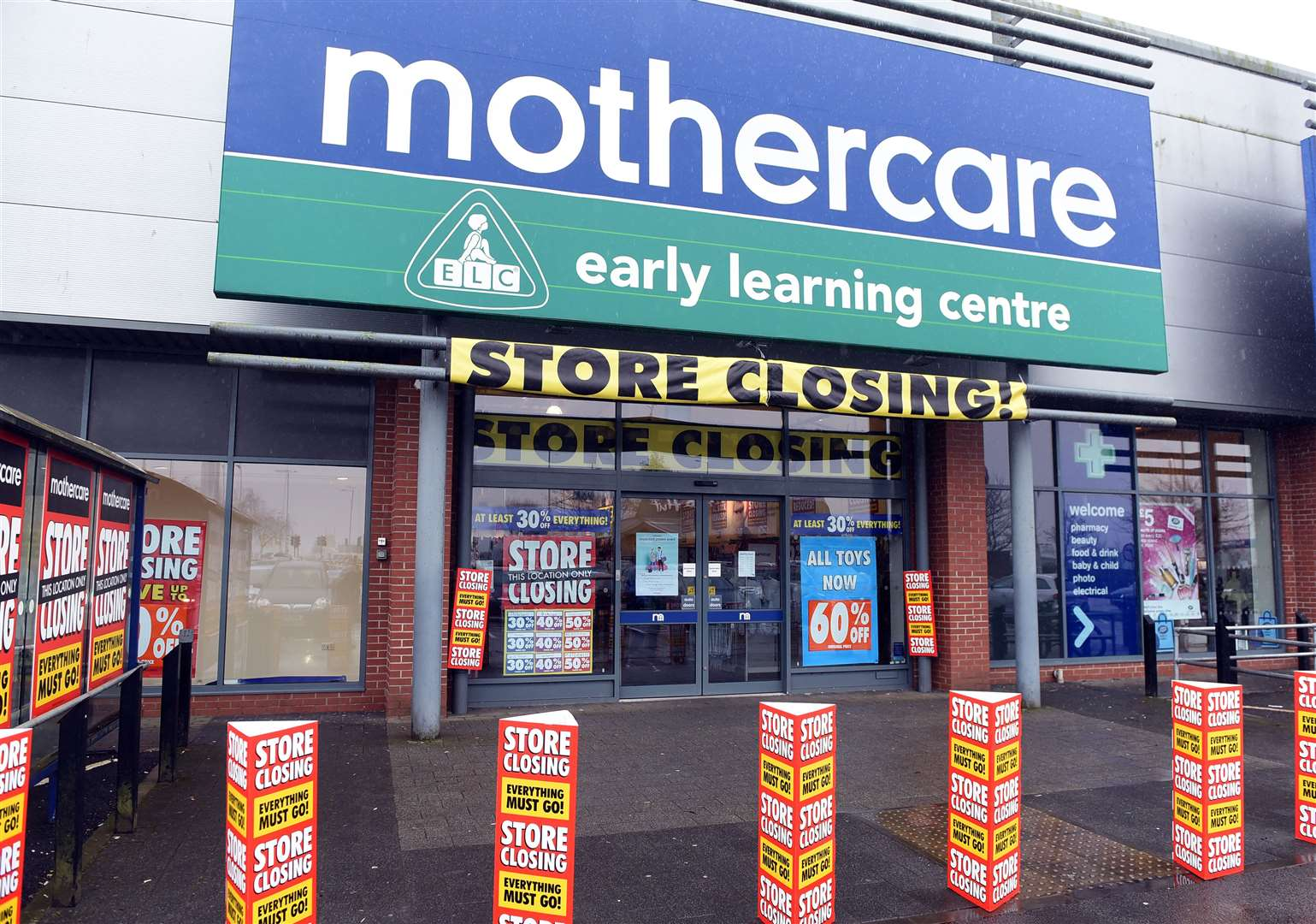 Mothercare will phase out all 79 of its remaining stores