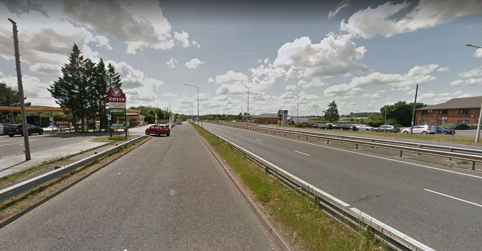 Eyewitnesses say the incident took place close to Dargate. Picture: Google