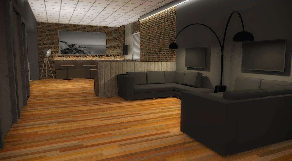 CGI designs showing how the inside of the cinema could look at the Marsh Academy in New Romney. It would be the Marsh's only cinema.
