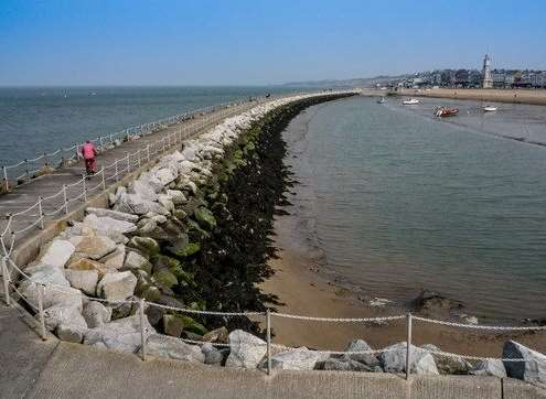 What Herne Bay's harbour arm looks like