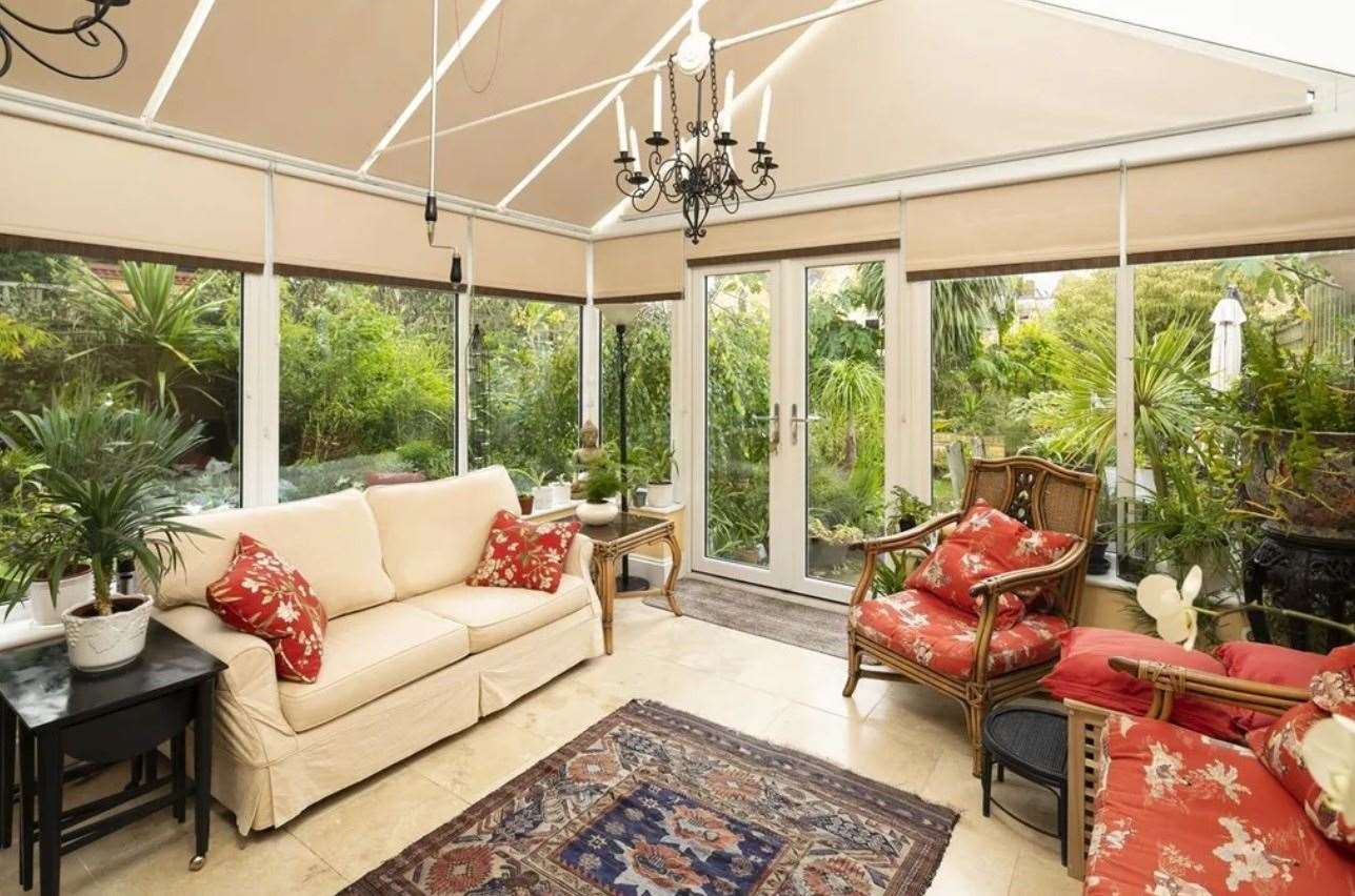 The conservatory, which leads onto a walled garden. Picture: Zoopla / Foundation Estate Agents