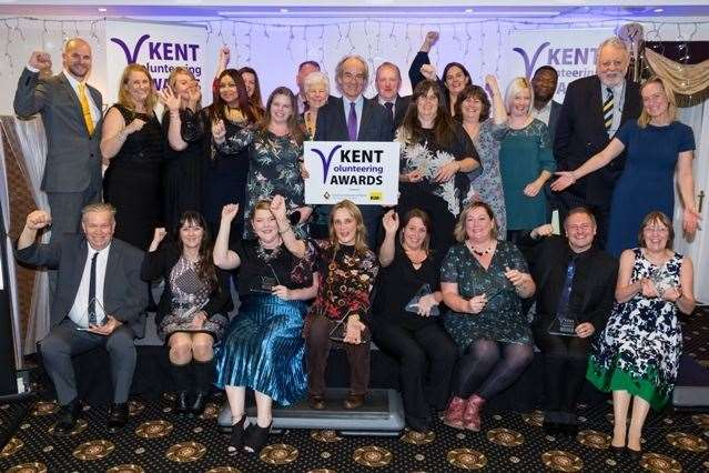 The 2020 Kent Volunteering Awards winners and supporters(22500520)