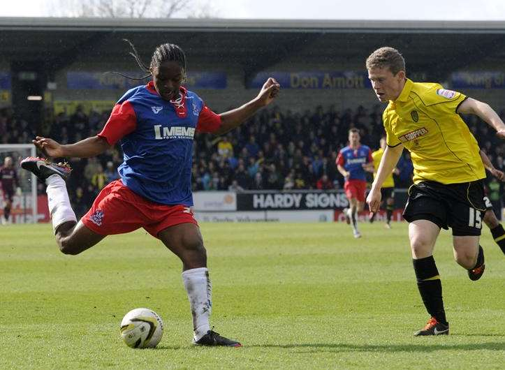 Mahlon Romeo in action for the Gills at Burton Picture: Barry Goodwin