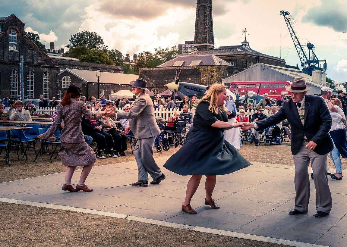 Dancing at the Salute to the 40s festival