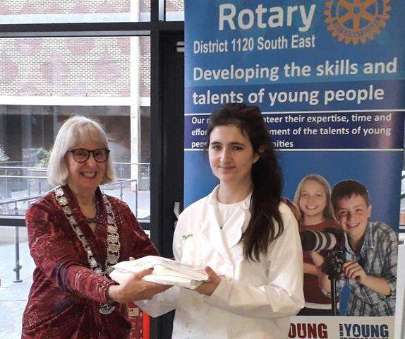 Young Cooks secondary school winner Amelia Page reached the Kent and East Sussex final of the Rotary Young Chef Competition (7037139)