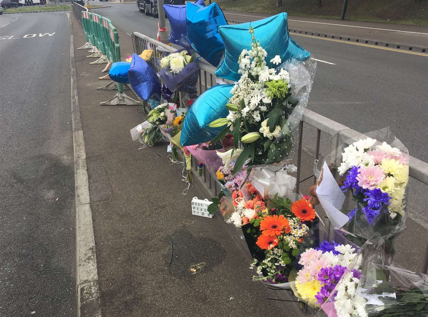 Tributes to Tyler Roye, 18, who died after his car crashed in Thames Road, Dartford
