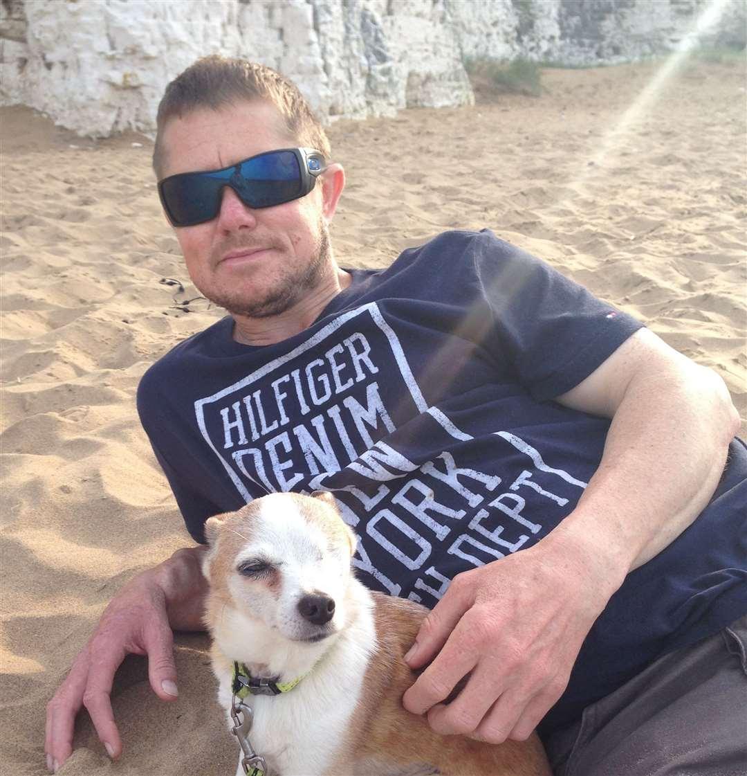 Rob Smith his dog 18-year-old dog Fifi