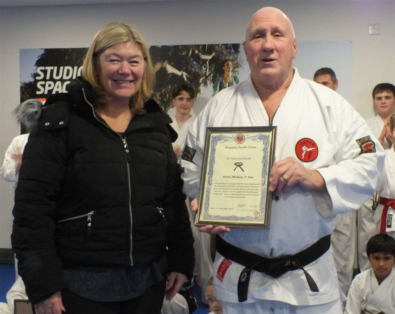 Sheppey Karate Club boss Arthur Wallace gets his 50-year certificate