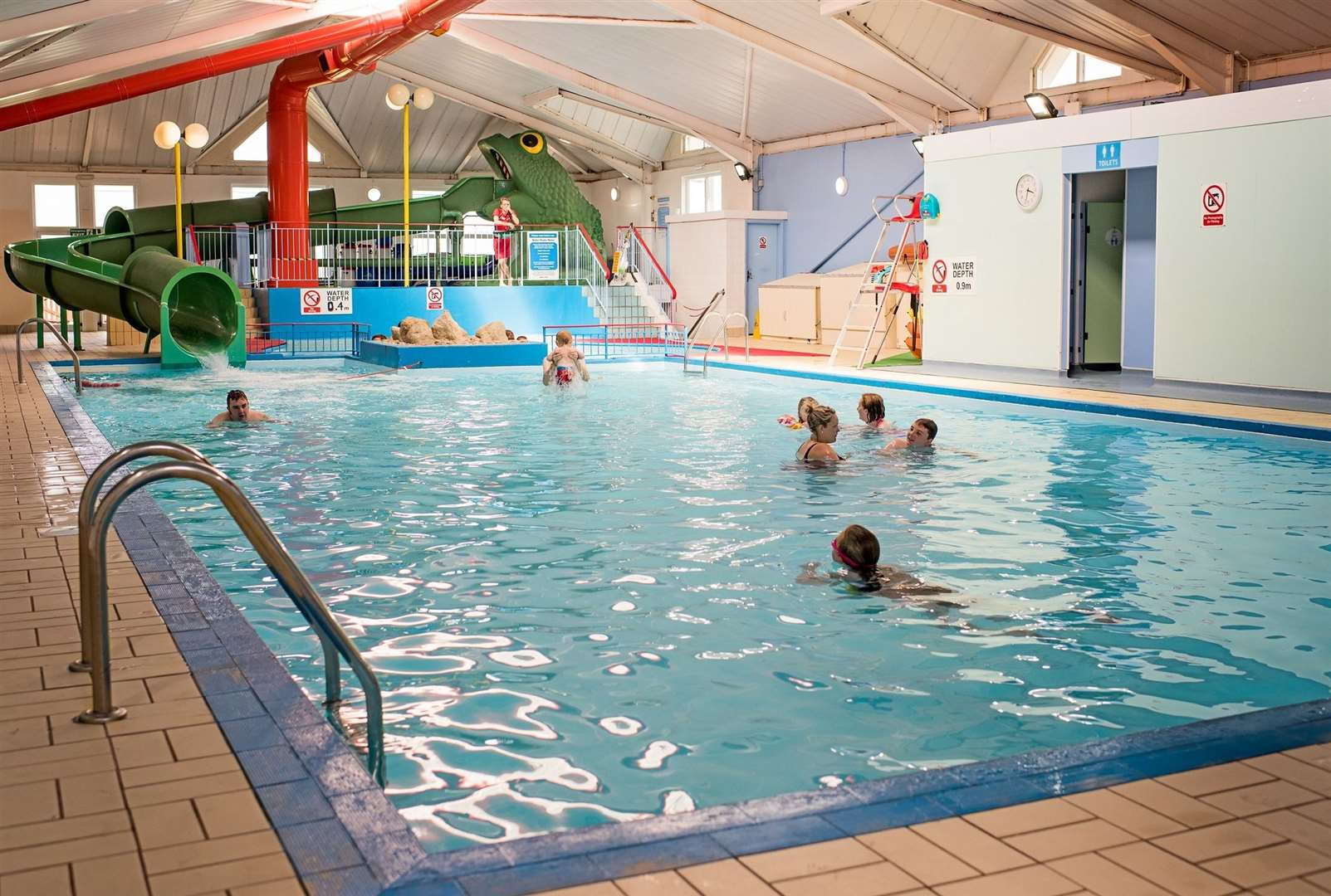 The indoor pool is ideal for a morning swim and has adult only sessions