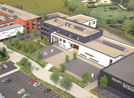 An artist's impression of what the Sevenoaks Grammar annexe and Trinity School would look like in Sevenoaks