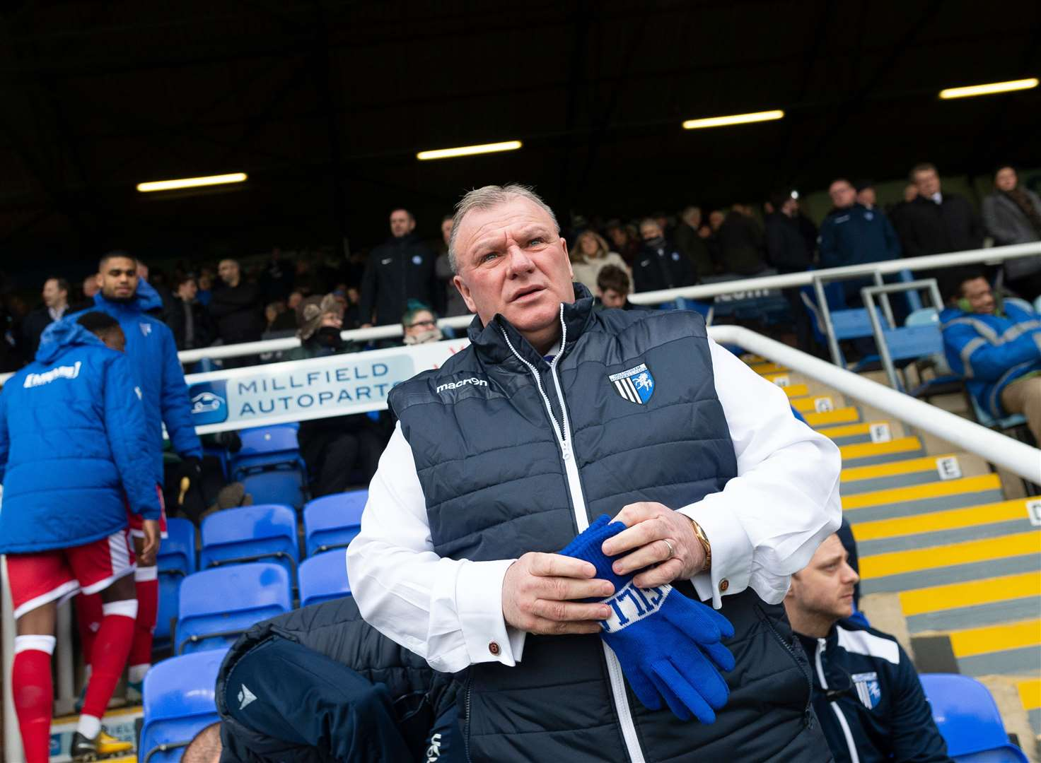 Steve Evans enjoyed the reception he got on his return to London Road Picture: Ady Kerry