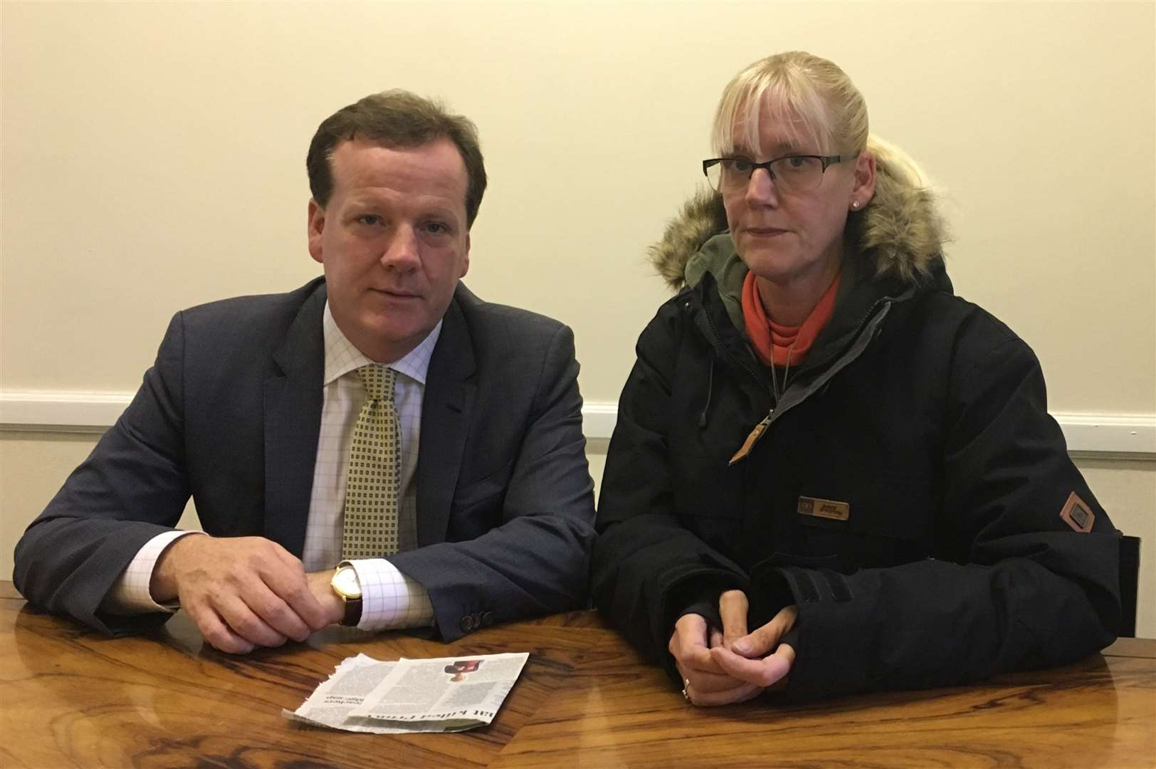 Michelle Parry and Charlie Elphicke:Picture from the office of Charlie Elphicke MP