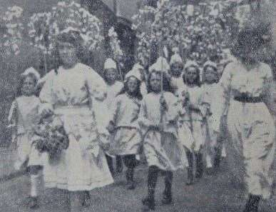 A picture of the original Milton Regis Peace Day Parade. Picture: Historical Research Group of Sittingbourne