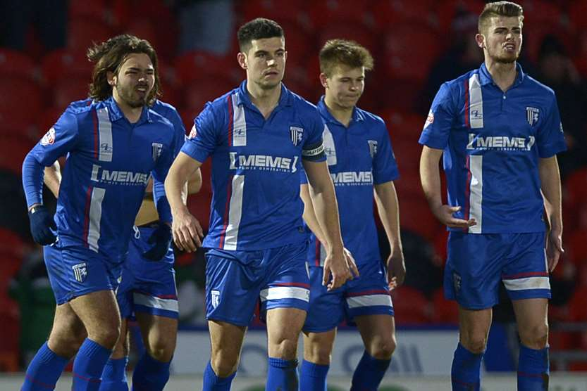 Frustration for Gills after Doncaster's controversial goal in the 75th minute Picture: Barry Goodwin