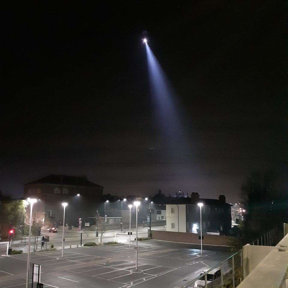 Helicopter searches Corporation Street, Rochester. Pic: Jeremy Clitheroe