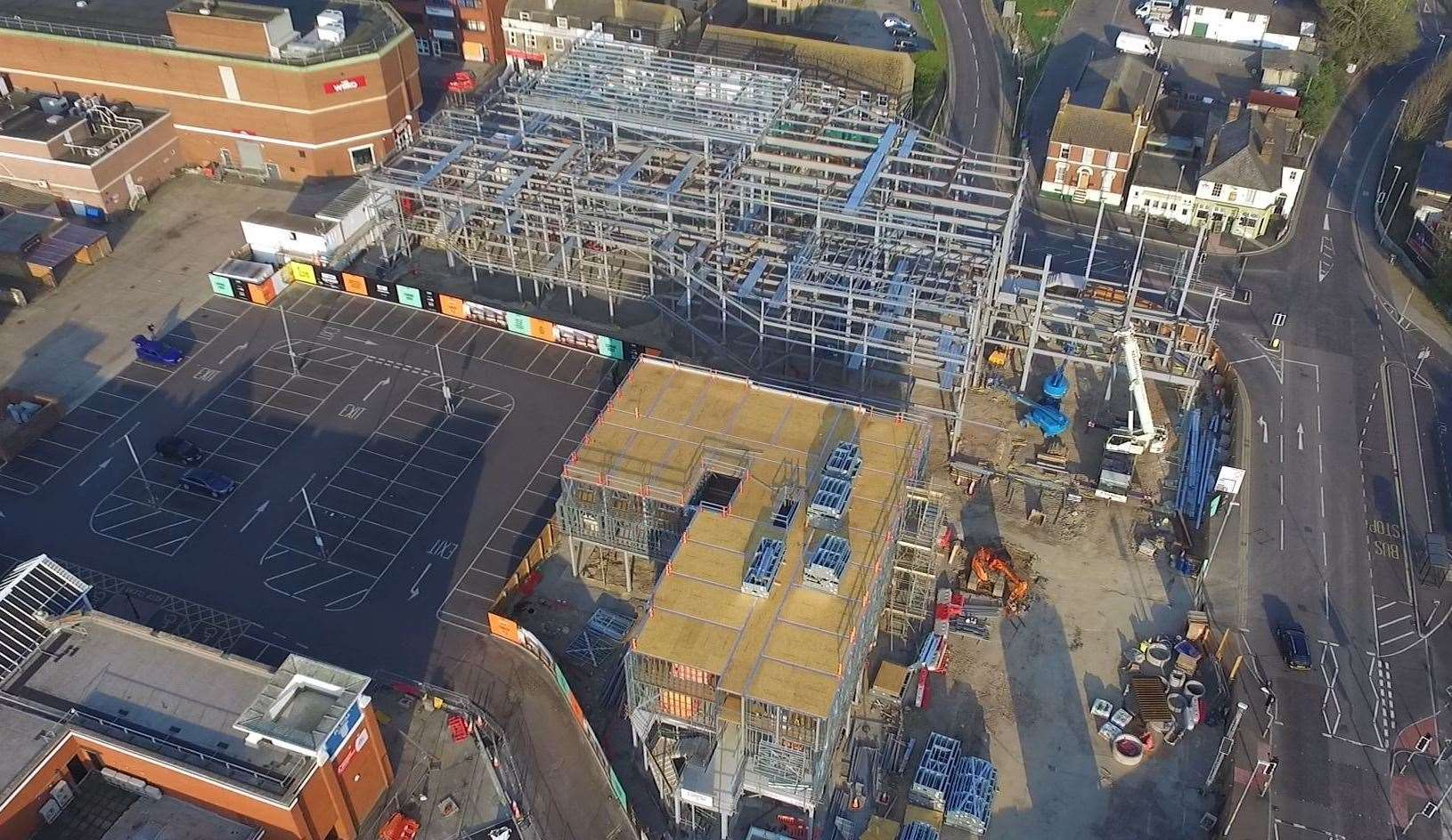 Sittingbourne's new Bourne Place leisure quarter from above. Picture: Mark Savage