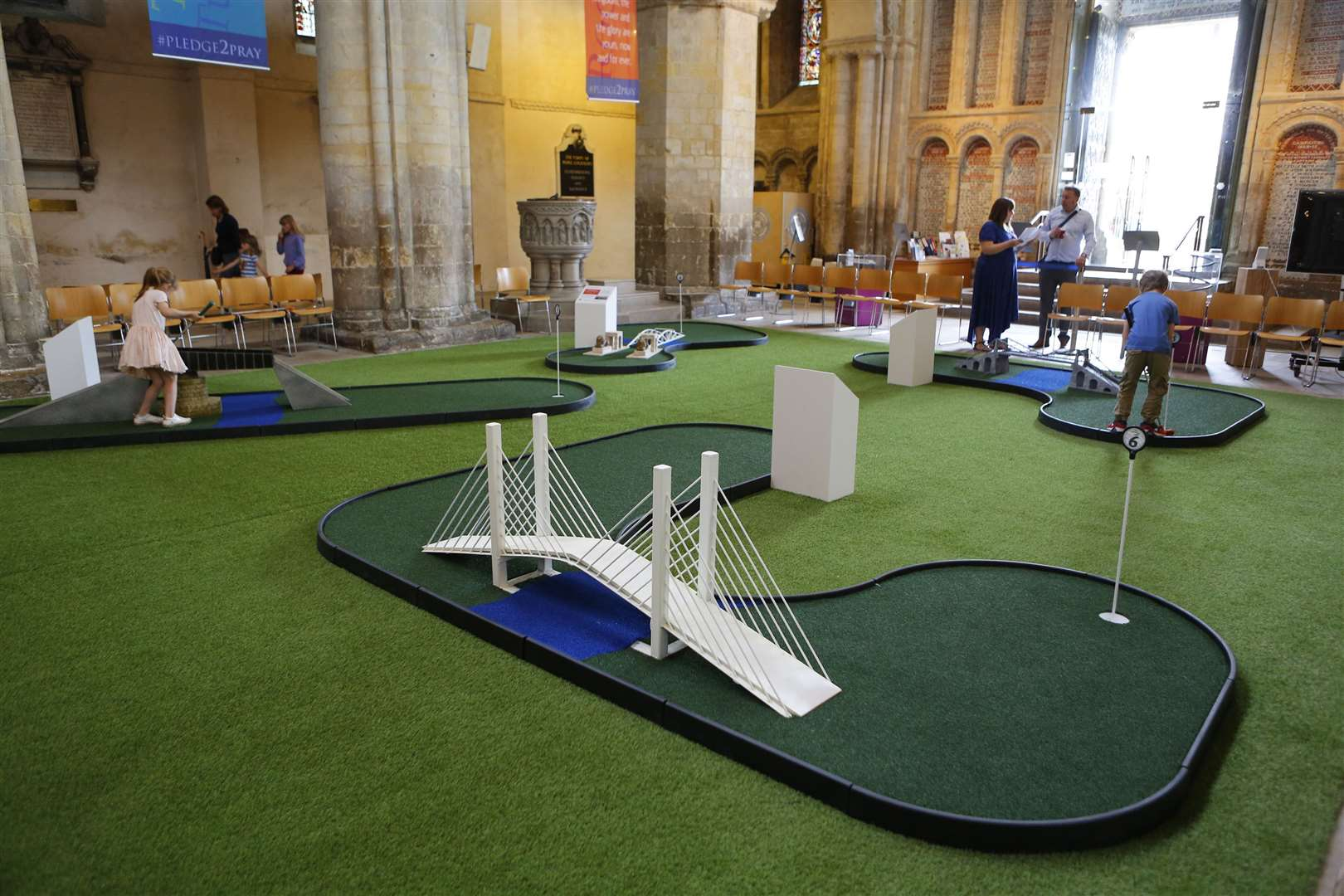 Rochester Cathedral crazy golf has proved very popular