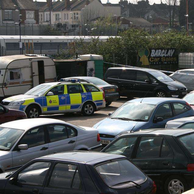 Police respond to reports of a shooting in Railway Street, Gillingham