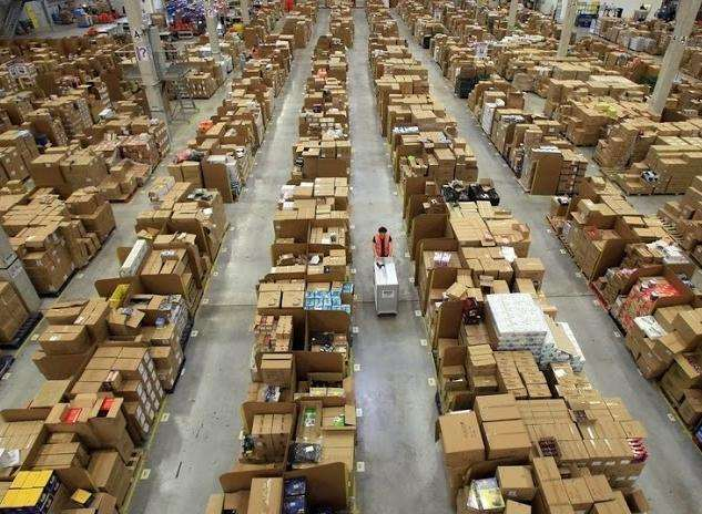 Inside an Amazon distribution centre