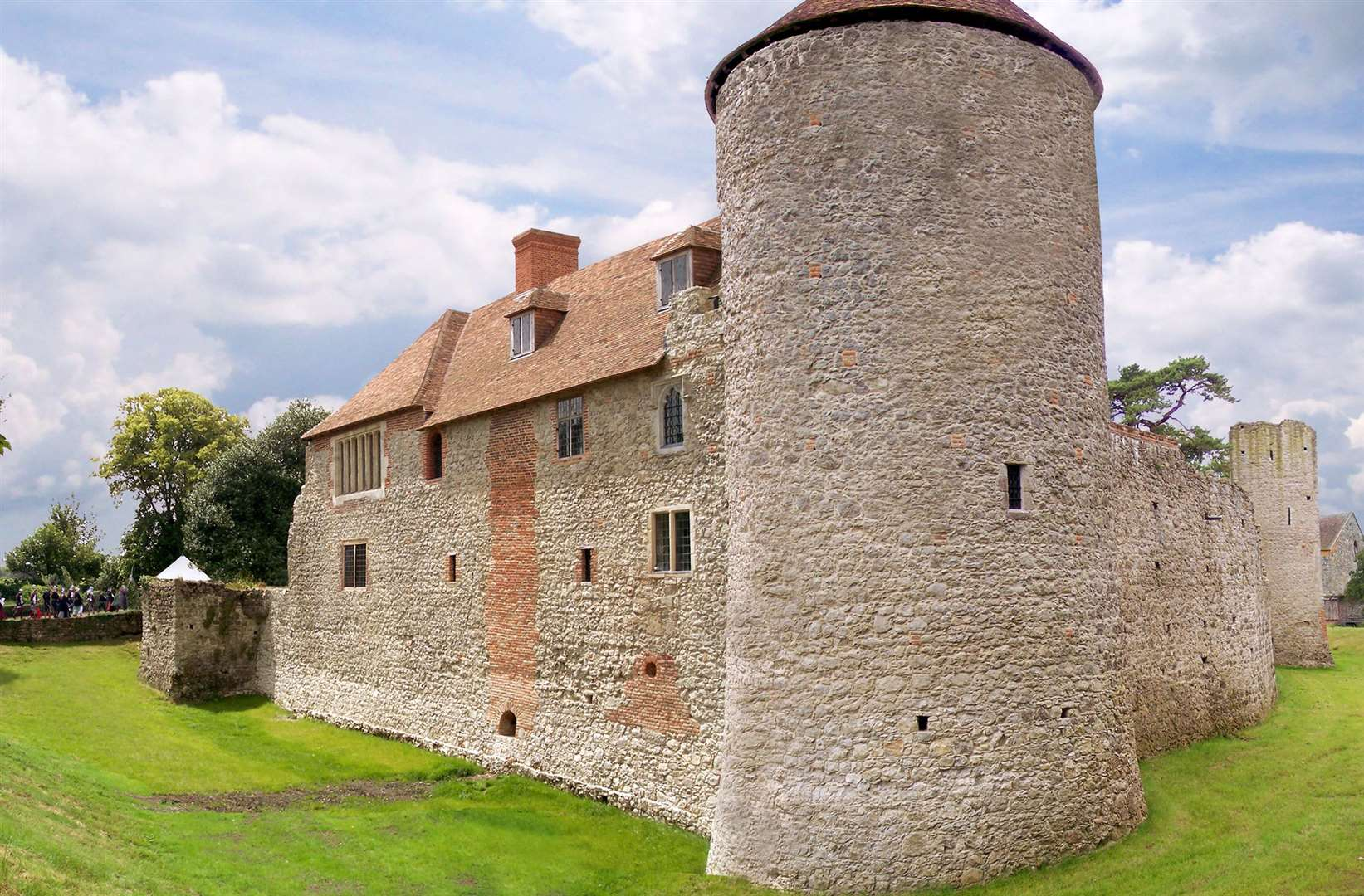 Westenhanger Castle dates from the 14th century