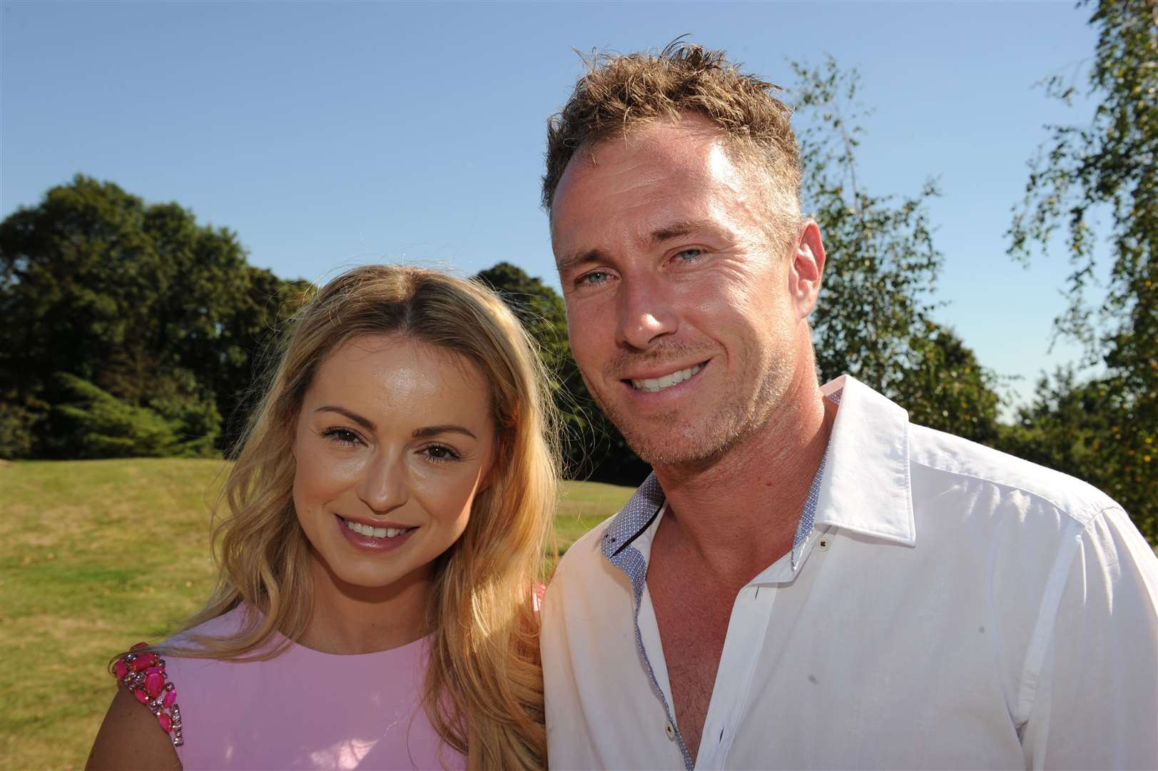 Strictly dancers Ola and James Jordan supporting a charity day at Bearsted Golf Club. Picture: Steve Crispe