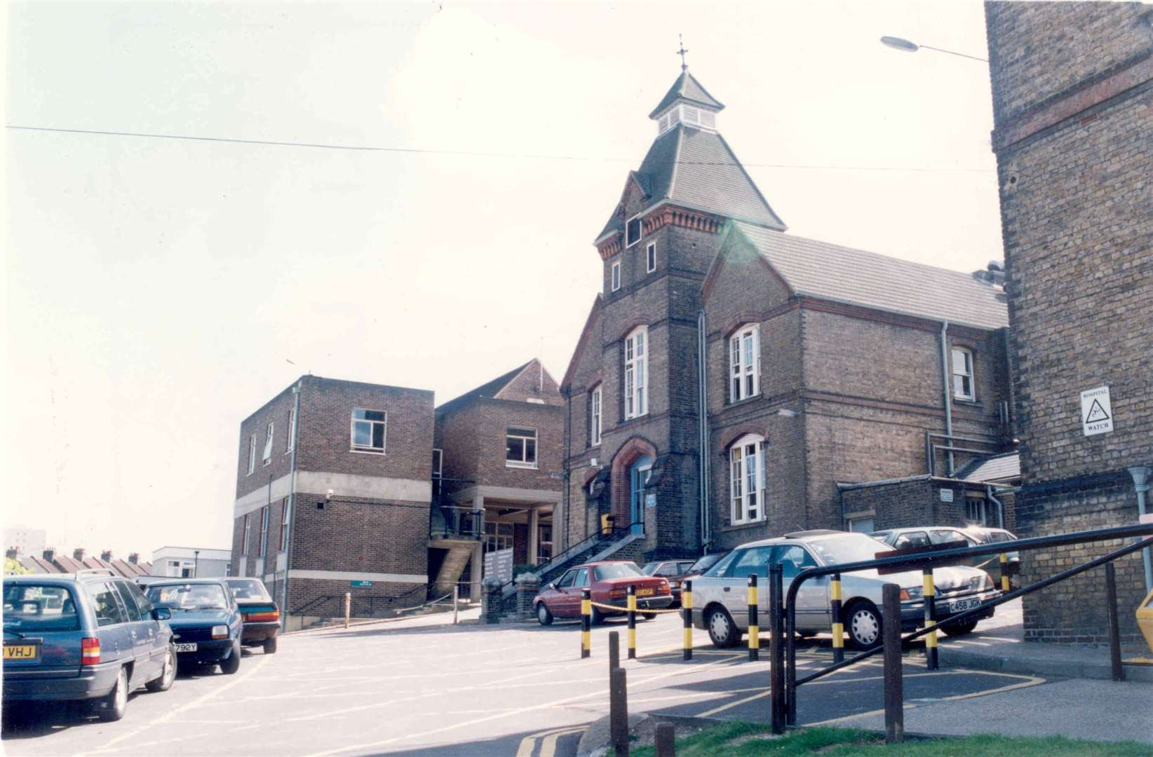 The former Chatham Workhouse became All Saint's Hospital in Magpie Hall Road, Chatham, pictured here in 1993. Picture: Images of Medway book