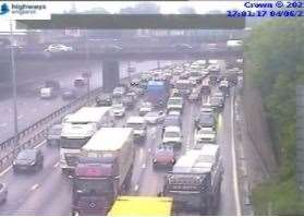Long queues for the Crossing remain. Photo: Highways England