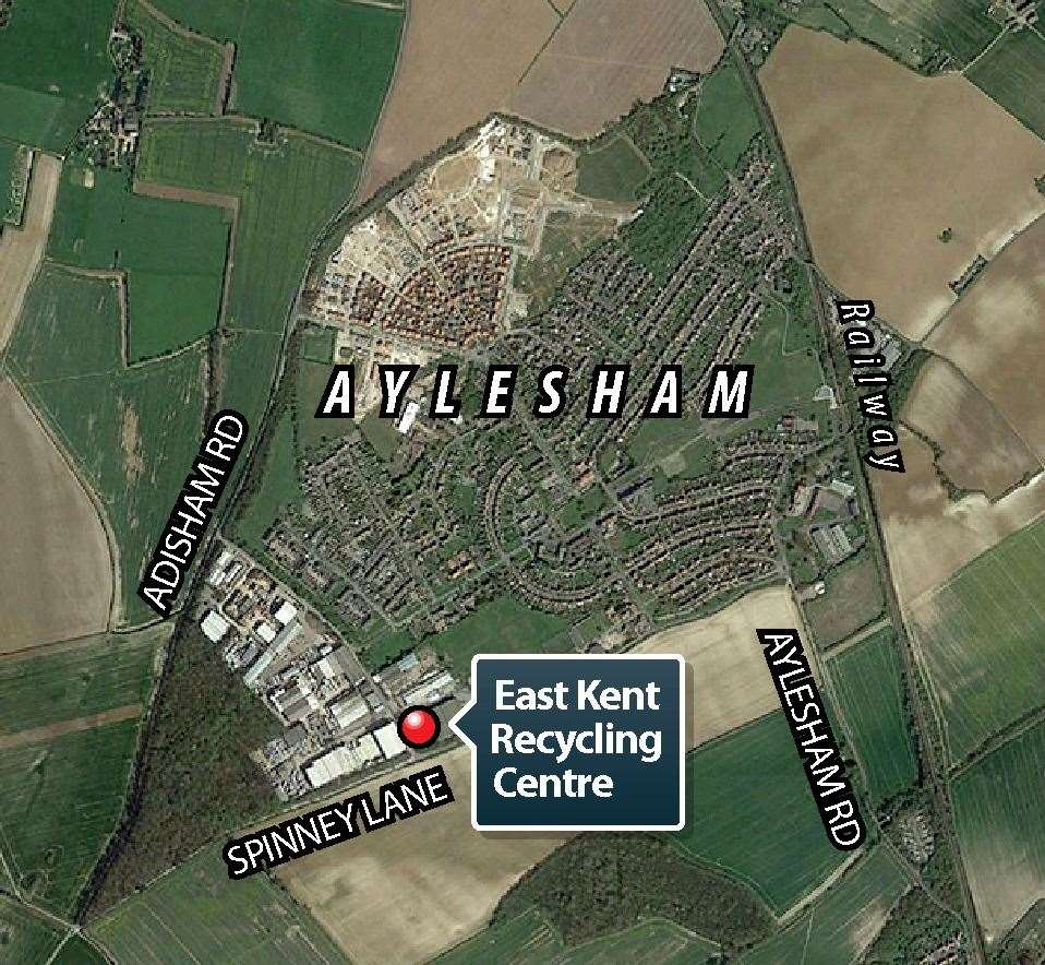 The proposed East Kent Recycling site