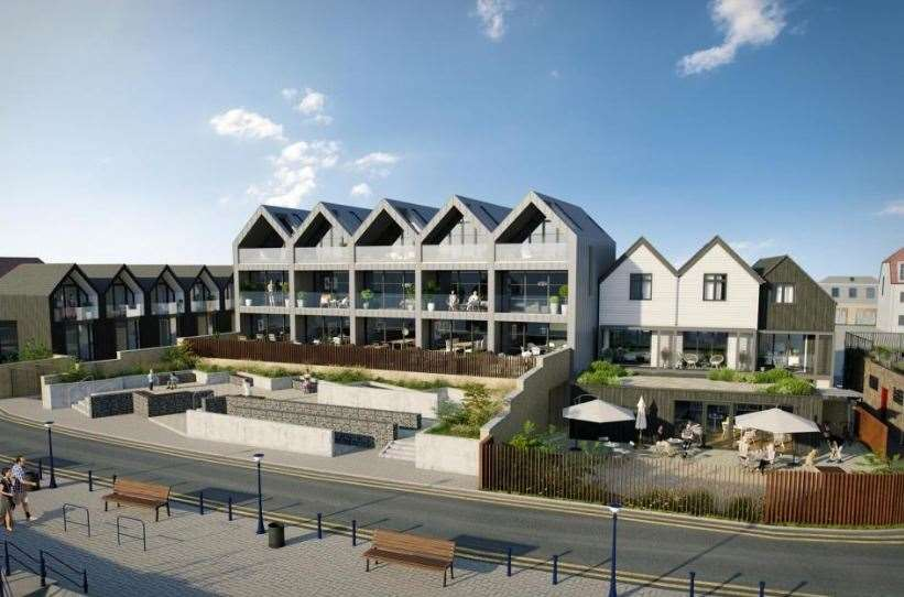 As well as the new homes, there will also be a new café/commercial building, on-site parking, two public toilets and a landscape garden for public use. Picture: Christopher Hodgson