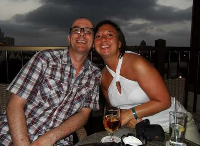 Claire Saywell suffered horrific leg injuries whilst on holiday with her husband Darren in 2017