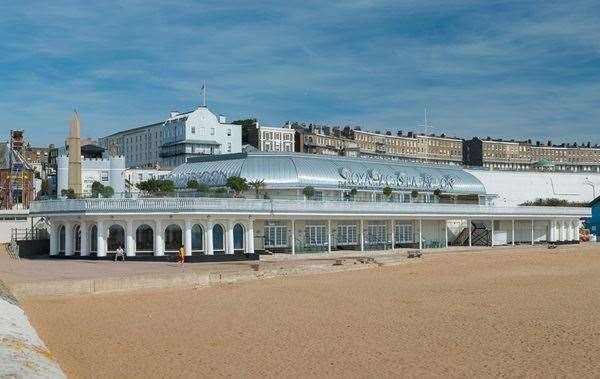 You couldn't get much closer to the beach - Royal Victoria Pavilion in Ramsgate