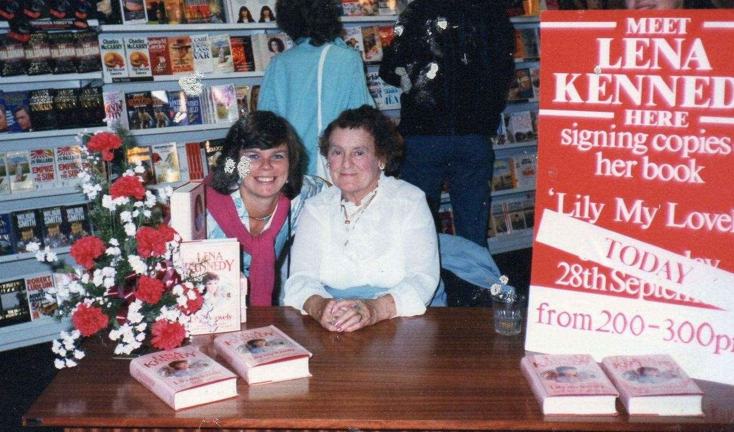 A now successful Lena Kennedy at one of her many book signings. Submitted (18668628)